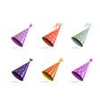 hat for birthday bright multicolor cone vector image vector image