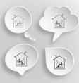 Home reading White flat buttons on gray background vector image vector image