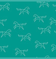 horse pattern seamless color vector image