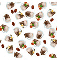 hot chocolate cup vector image vector image