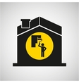 industry construction house icon vector image vector image