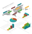 infographic template with 3D isometric vector image vector image