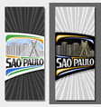layouts for sao paulo vector image