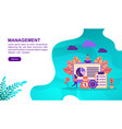 management concept with character template for vector image