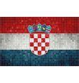 Mosaic Flag of Croatia vector image vector image