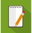 notepad with pencil education icon vector image vector image