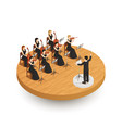 orchestra isometric composition vector image vector image
