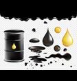 petrol symbols set oil black vector image vector image
