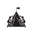 racing climbers black concept icon racing vector image