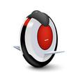 realistic style unicycle icon balancing solo vector image vector image