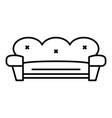retro sofa icon outline style vector image vector image