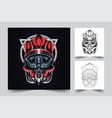 satan helmet artwork vector image