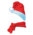 scarf hat vector image vector image