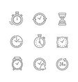 set line icons time vector image vector image