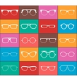 Set of glasses colorful icons vector image vector image