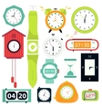 set Types of alarms clocks vector image vector image