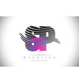 sp s p zebra texture letter logo design vector image vector image