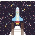 Space Exploration Cartoon Style Concept vector image vector image