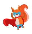 Squirrel Animal Dressed As Superhero With A Cape vector image vector image