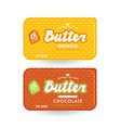 stock packaging design for butter vector image
