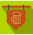 Street signboard of pub flat icon vector image vector image