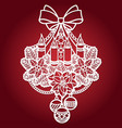 template for laser cutting christmas candles vector image vector image