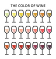 the color wine - different shade white rose vector image vector image