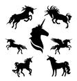 unicornSet vector image