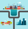 Urban Village and Factory Landscapes Connected vector image vector image