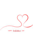 valentines day background composition elegant hear vector image vector image