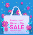 womens day 8 march international holiday vector image