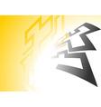 Yellow glow Background vector image