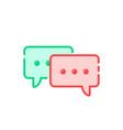 cartoon double speech bubble icon vector image