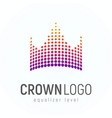 abstract crown logo made dots isolated vector image vector image