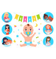 baby flags and breastfeeding vector image vector image