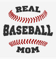 baseball mom typography vector image