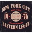 baseball typography t-shirt graphics vector image vector image