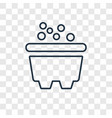 bathtub concept linear icon isolated on vector image