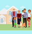 big happy caucasian family vector image vector image