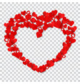 big heart made of small vector image