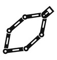 bike chains icon simple style vector image