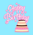birthday greeting card with decorative cake vector image vector image