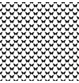 black and white seamless butterfly pattern vector image
