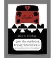 Black Friday Sale in Wonderland Banner Card vector image vector image