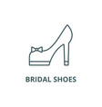 bridal shoes line icon bridal shoes vector image vector image