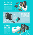 business data protection network equipment and vector image