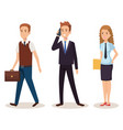 business people isometric avatars vector image vector image