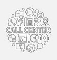 call center round customer vector image vector image