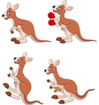 Cartoon kangaroo collection set isolated vector image vector image