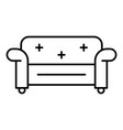 chair sofa icon outline style vector image vector image